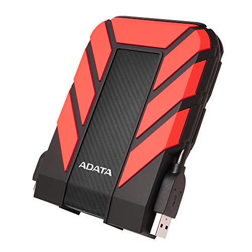 ADATA HD710 Pro HDD esterno Portatile 1TB, Unità Rugged, Resistente all Acqua, Polvere e Cadute, per Mac, PC Desktop, Workstation e PC Portatili, USB 3.2 Gen1, Rosso