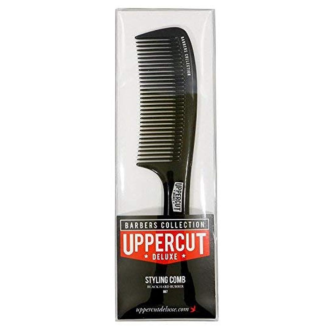 寄生虫驚き過剰Uppercut Deluxe Men's Bb7 Barber Styling Comb Black [並行輸入品]