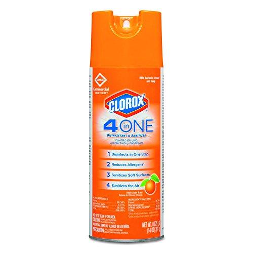 Clorox 31043CT 4-in-One Disinfectant & Sanitizer, Citrus, 14oz Aerosol (Case of 12)