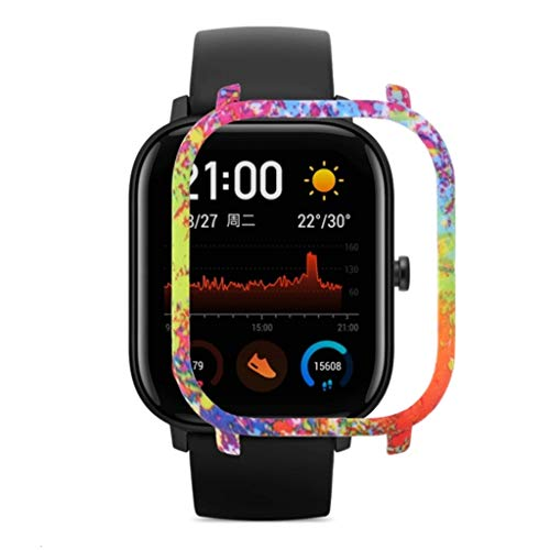 Gehäuse Kompatibel mit Xiaomi Huami Amazfit GTS Watch, PC Shell Schutzhülle Stoßfest Anti-Scratch Shell Protector Bumper Rahmen Full Cover Case für Sport Fitness für Xiaomi Huami Amazfit GTS (C)