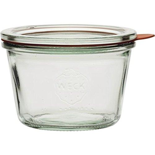 Weck Einkochgläser mit Glasdeckel - Füllmenge: 250 ml - Sturzform - 4 Stück