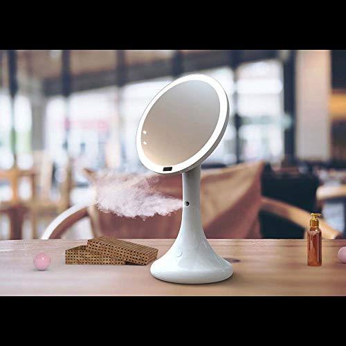 Lámpara de techo Lámpara inteligente led hidratante maquillaje espejo cuerpo humano inducción luz maquillaje espejo rociado hidratante agua metro mesa de escritorio lámpara de mesa ( Color : White )