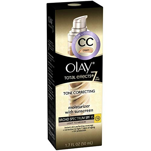 Olay Total Effects 7-In-1 Tone Correcting Moisturizer, SPF 15, Light To Medium 1.7 Ounce