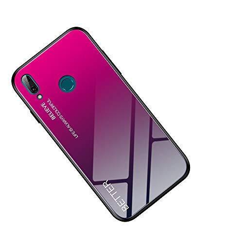 HiCASE Pro Funda para Xiaomi Redmi Note 7, Funda Trasera Híbrida de Vidrio Templado 9H, Marco de TPU Flexible con Parachoques, Resistente a los Arañazos Carcasa Caso