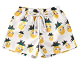 Styles I Love Baby Toddler Beach Yellow Pineapple Swim Shorts Bathing Suit Beach Pool Swimwear Little Boy Swim Trunks, 18-24 Months