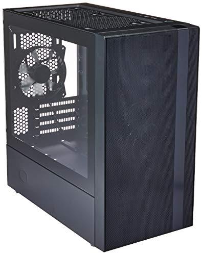 Cooler Master MasterBox NR400 Mini Tower Case mATX con Pannello Laterale in Vetro Temperato, 2 Ventole Preinstallate da 120 mm, Configurazioni Flessibili del Flusso d'Aria, Gestione dei Cavi