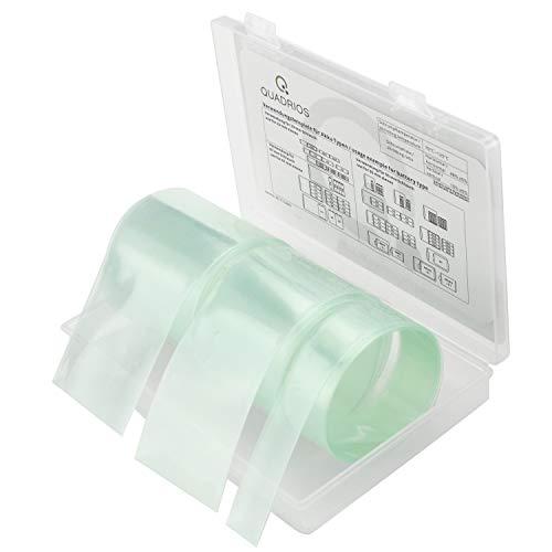 QUADRIOS GmbH Batteriepack-Akku-Schrumpfschlauch Sortiment Box verschiedene Größen für Modellbau, Outdoor, Batterieschutz, Akkupack, Zellenschutz Industriequalität Halogenfrei