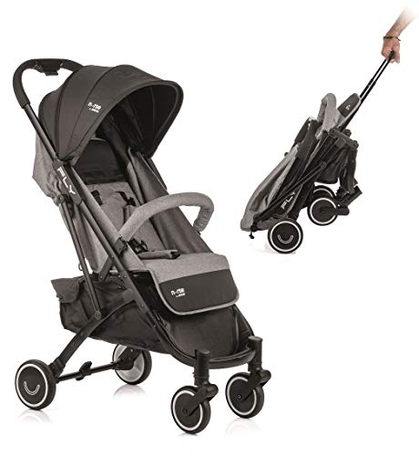 Nurse by Jane Fly Lightweight Stroller 5.9 kg Compact Closing with One Hand and Handle Trolley Suitable Airplane Luggage (Rock Black Mix)