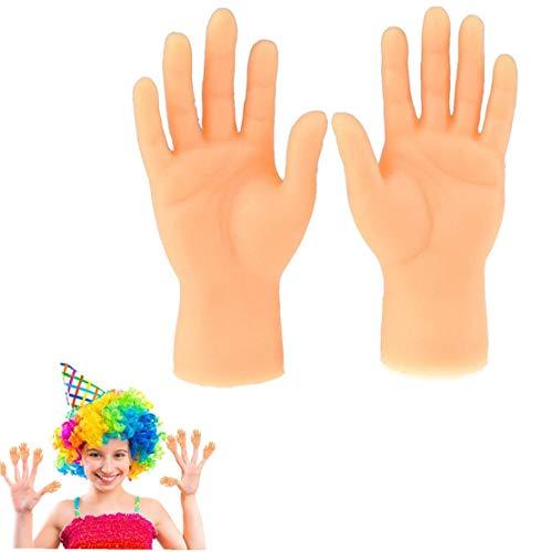 MaylFre Halloween Hand Props 1pair Tiny Fingerpuppen Kleiner Finger Stützen Für Hände Halloween Hand Prop Zubehör Mini Prank Hand Gag-Geschenke Für Erwachsene (Linke Und Rechte Hand)