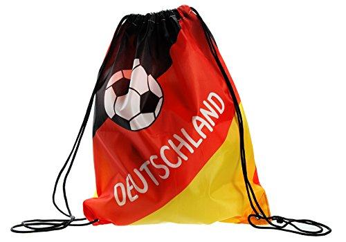 Preis am Stiel 4 x Matchbeutel ''Deutschland'' | Fanartikel | Geschenk für Frauen | Fußball WM | Sportbeutel für Jungen | Turnbeutel für Mädchen | EM Handball | Matchbeutel für Damen