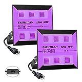 FAISHILAN 2 Pack 30W LED Black Lights, UV Flood Lights with Plug & Switch, IP66 Waterproof...