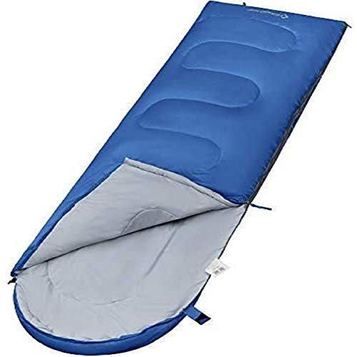 KingCamp Saco de Dormir Ultraligero de Momia Grande Individual para Niños Camping Montaña Portátil Bolsa de Compresión Verano 165 x 70cm