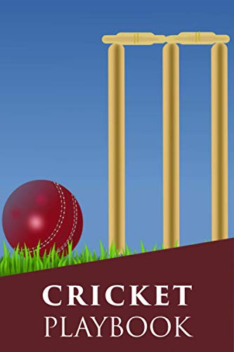 Cricket Playbook: Cricket Play Book Journal | Cricket Player & Coach Notebook with Field Diagrams for Drawing Up Plays, Creating Drills, and Strategy ... Boyfriend Girlfriend & Kids Cricketer Gifts