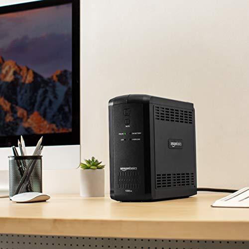 Amazon Basics Line-Interactive UPS 1000VA 550 Watt, 9 Outlets