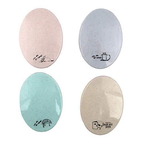 LASISZ Miroir de Maquillage Portable Petit Groupe de Peignes Combiner Costume Peigne de Maquillage Plier Miroir de Poche Ellipse, Couleur aléatoire