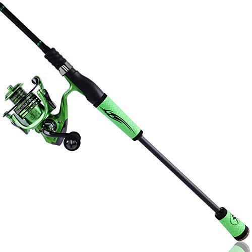 Sougayilang Carrete de caña de pescar ultraligero Combos portátil peso ligero de alto carbono 4 piezas de viaje Pesca Polo carrete de pesca -2.1M 6.89FT Spinning Rod con carrete GB2000