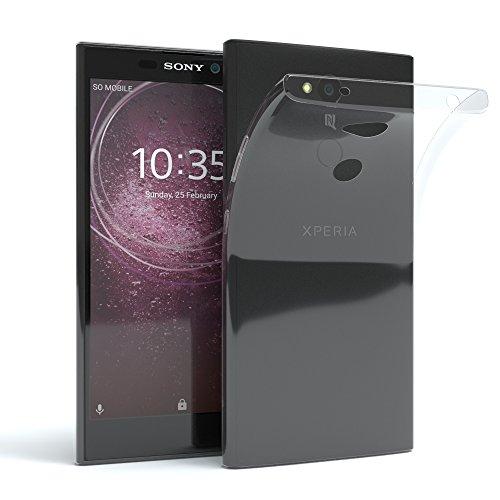 EAZY CASE Hülle kompatibel mit Sony Xperia XA2 Schutzhülle Silikon, Ultra dünn, Slimcover, Handyhülle, Silikonhülle, Backcover, Durchsichtig, Klar Transparent