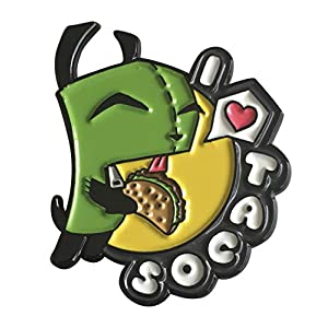 Licensed Invader Zim – I Love Tacos 1.75″ Collectible Pin