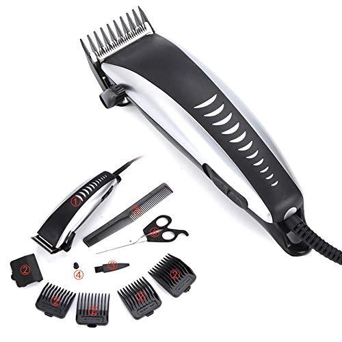 Trimmer Clipper Kit profesional del pelo del pelo Conjunto eléctrico Guía con el peine cepillo for los hombres adolescentes en peluquero peluquería herramientas ligeras y USB Charging- grande for el r