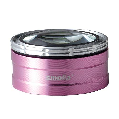 3R 充電式 LED付 デスクルーペ 卓上ルーペ[ LED 拡大鏡 smolia TZC ] 倍率調整可 スモリア ペーパーウエイト 3R-SMOLIA-TZC PK ピンク