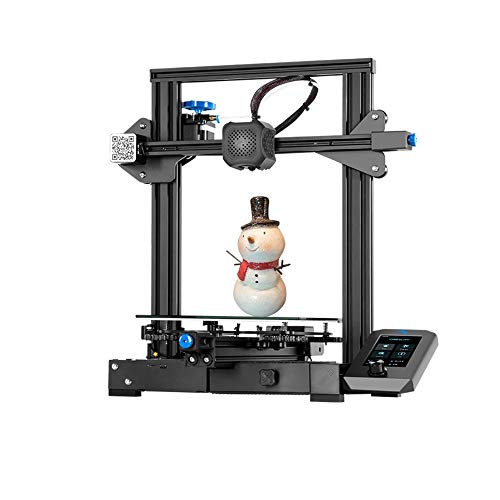 ASPZQ CREALITY Ender-3 V2 3D Printer, FDM DIY Printer High Precision Printing Support PLA/TPU/PETG Print Size 220 * 220 * 250Mm