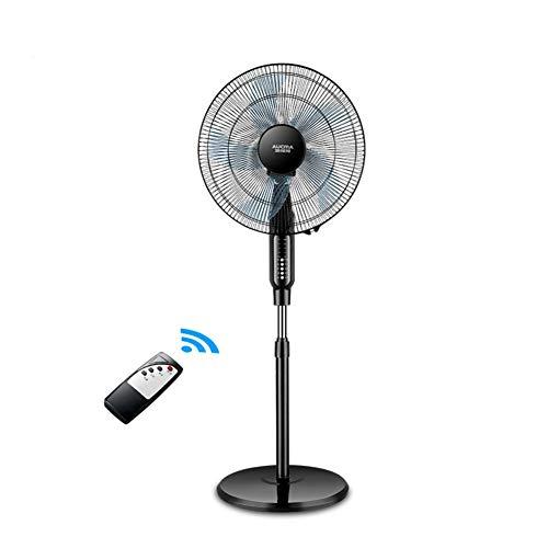 Cooler instelbare pedestal, oscillerende staande vloerventilator, 3 snelheden, piepventilator, huisdecoratie 40x135cm (16x53inch) zwart