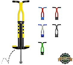 New Bounce Pogo Stick for Kids - Pogo Sticks for Ages 9 and Up, 80 to 160 Lbs - Pro Sport Edition, Quality, Easy Grip, PogoStick for Hours of Wholesome Fun (Black & Yellow)
