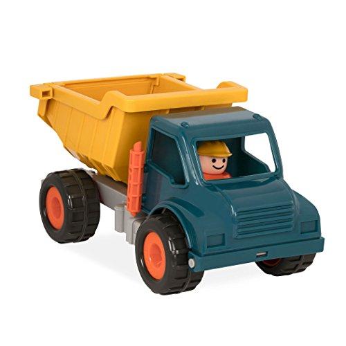 Battat – Muldenkipper mit beweglichen Teilen und 1 Fahrer – Baufahrzeug Kipplaster Spielzeuglaster für Kinder und Babys ab 18 Monaten