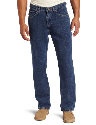Lee Men's Relaxed Fit Straight Leg Jean, Medium Stone, 36W x 30L
