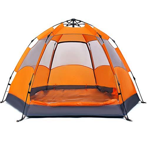 Tente hexagonale Automatique à Point Unique Double Couche 3 à 4 Personnes 5 à 8 Personnes Protection Contre la Pluie Protection Solaire Plage Camping 260 * 260 * 140 2