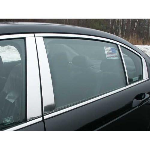 Fits Honda Accord Sedan 03-07 Chrome B-Pillar Door Cover Window Mirror Trim LDR