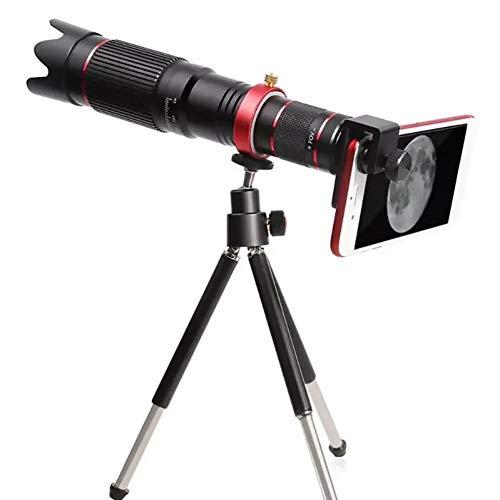 MKDASFD Lente de cámara con Zoom óptico 4K HD 36X Lente telefoto Alcance del telescopio del teléfono móvil con Clip para teléfono con trípode para Samsung iPhone Huawei