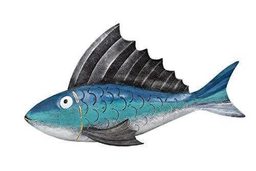 Klp Wanddeko Fisch Metall Zierfisch Wandbild Deko Wand Maritim Garten Figur Skulptur