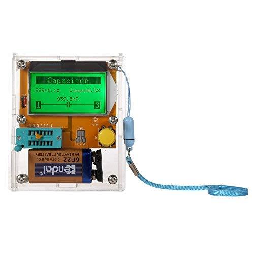KKmoon Multifunktions Transistor Tester Diode Triode Kapazität ESR Meter MOS PNP NPN LCR LCD Hintergrundbeleuchtung mit Gehäuse