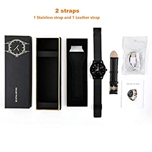 K88H Smart Watch,Smart Watch Fitness Tracker Smart Watches for Women Men Kids with Heart Rate Monitor Bluetooth Sports Activity Tracker Compatible with Android iOS(2Straps)