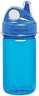 Nalgene Grip-N-Gulp Bottle with Cover, Blue, 12 oz