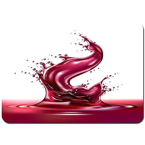 Alfombras Absorbente Antideslizante Vector 3D Jugo de UVA Vino Tinto Splash líquido Ultra Suave Alfombrilla De Baño Corredor-80x60cm