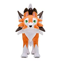 Character Name: Lycanroc (Dusk Form), Color is Orange, Size: About 10 Inches Material: Plush /Cotton Fabrics, Spun Polyester and Polyfill Recommended age 3+, Suitable for Christmas Birthdays gifts Please go to D-Khaleesi get more Figure Plush Lycanro...