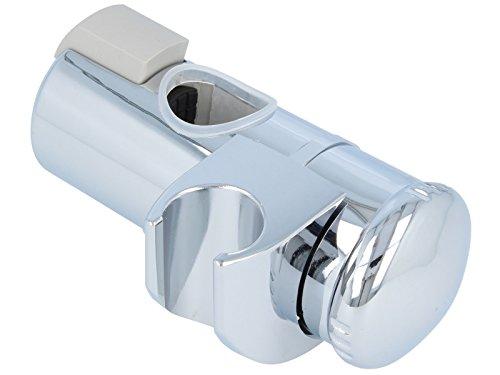 tecuro universale–gleiter supporto doccia per asta saliscendi da Ø 25mm Cromo