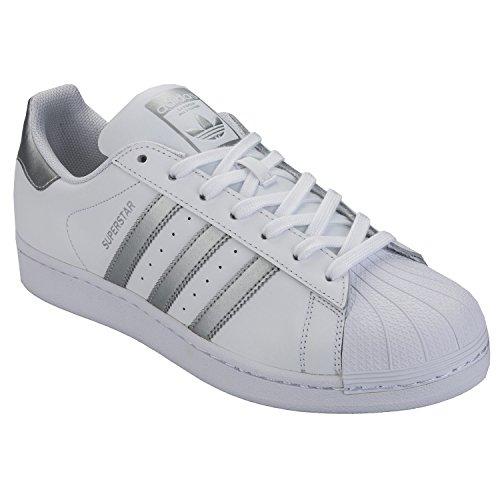 adidas Herren Originals Superstar Sportschuhe in Weiß – EU 40