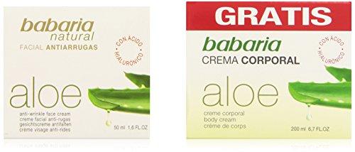 Babaria Naturals Aloe Vera Anti-wrinkle Moisturising Face Cream 50ml + free 200ml Body Cream
