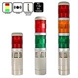 LUBAN Industrial Signal Light, Column LED Alarm Tower Lamp Light Flash Indicator, 2-Layer ...