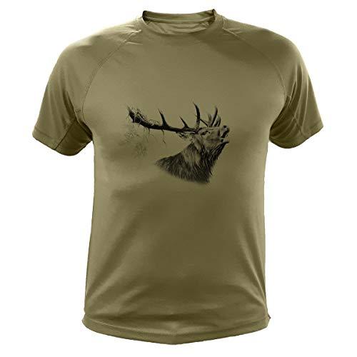 Jagd T Shirt Jagd Geschenke Hirsch (303, Grun, XL)