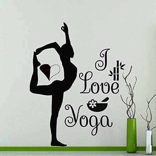 JXWH Me Encanta Yoga Gimnasta Vinilo Etiqueta de la Pared decoración del...