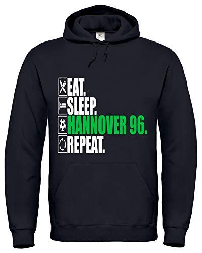 BlackSweatshirt Hannover 96 Fußball Hoodie Unisex S-XXL XXL BU13.