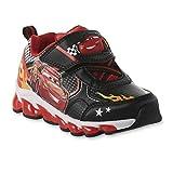 Disney Toddler Boys' Lightning McQueen Sneaker, Light-Up (12 M US Toddler/Youth) Black/Red