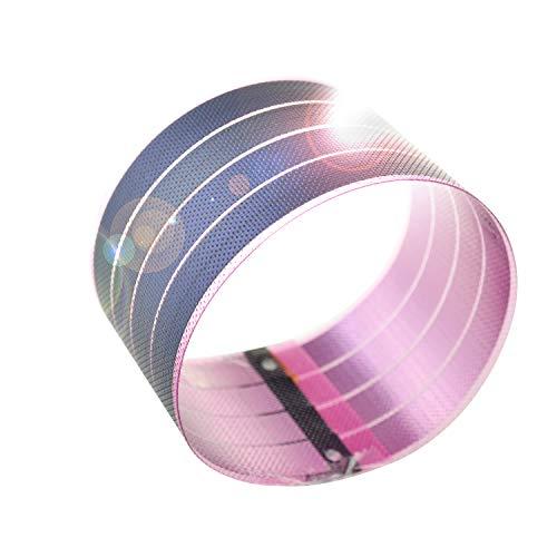 Paneles solares de película fina flexible panel solar fotovoltaico PV energía solar en capa fina DIY (Rosa)