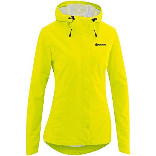 Gonso Sura Light Regenjacke Damen Safety Yellow Größe EU 40 2020 wasserdichte Jacke