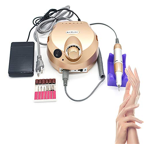 220 V elektrische nagelboormachine 30000 omw/min professionele nagelvijlmachine, manicure pedicure kit met voetpedaal voor gelnagels.