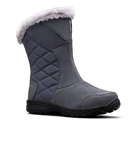 Columbia Women's ICE Maiden II Slip Snow Boot, Graphite Grey, 10